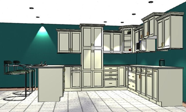 Our showroom in the planning stage.